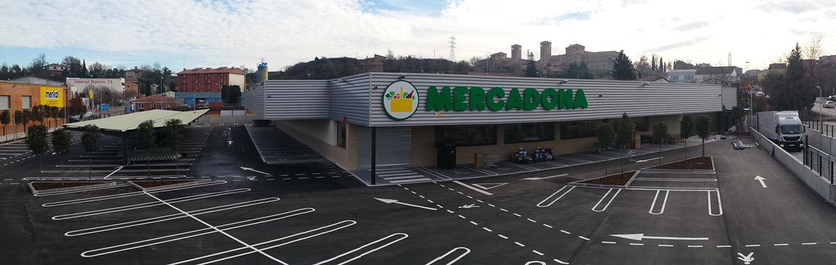 Rotulación de nuevo supermercado Mercadona en Coll de Vic